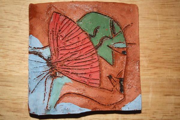 Ceramic Art - Early Bird - Tile by Gloria Ssali