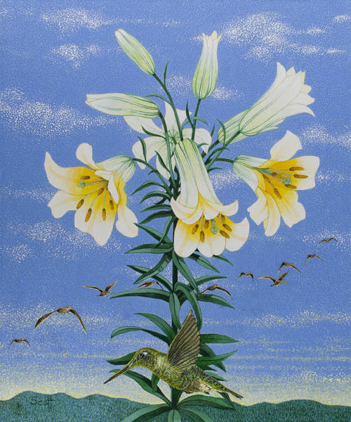Wall Art - Painting - Early Birds by Pat Scott