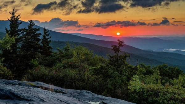 Wall Art - Photograph - Blue Ridge Parkway Sunrise - Beacon Heights - North Carolina by Mike Koenig