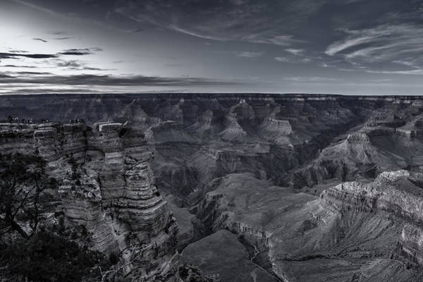 Photograph - Early Evening At The Grand Canyon No. 1 Bw by Belinda Greb
