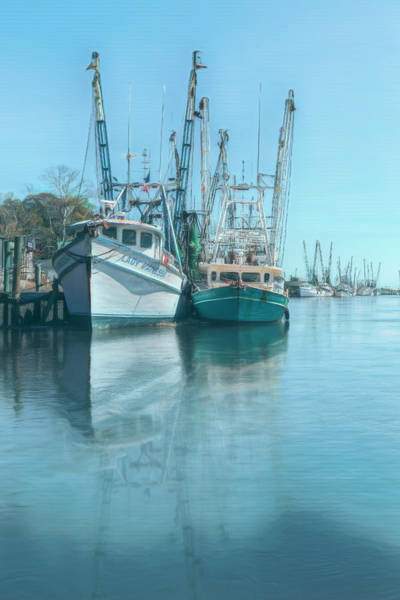 Photograph - Early Evening Harbor Nautical Aquas by Debra and Dave Vanderlaan