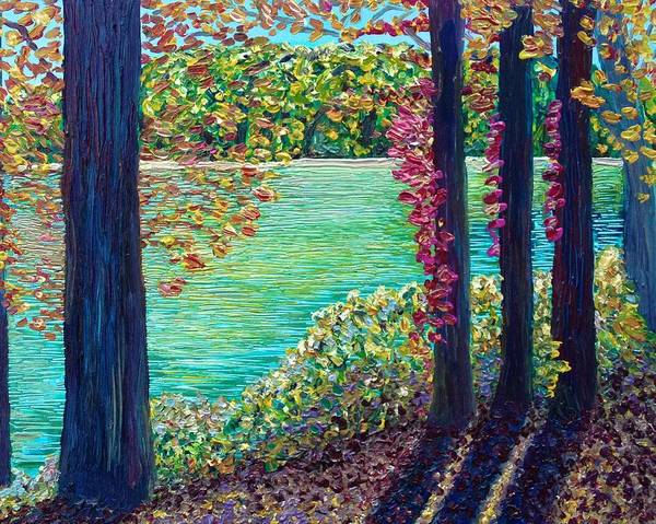 Painting - Early Fall Along The Housatonic  by Polly Castor