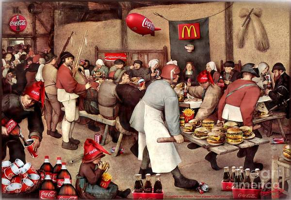 Xxx Painting - Early Globalization...capitalist Vices by Lucian Ioan DOBARTA LuciDO