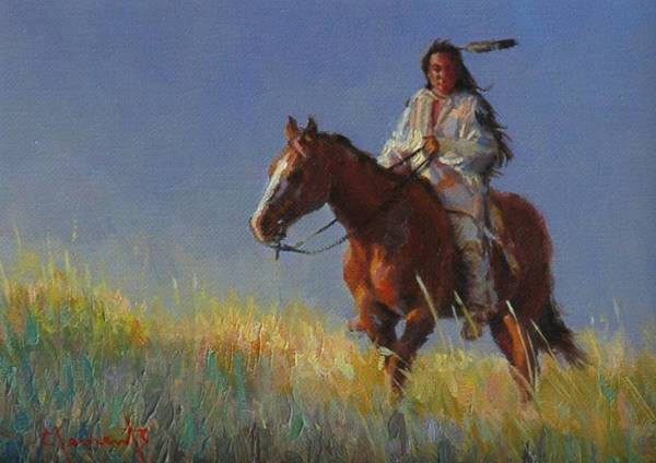 Lakota Painting - Early Light by Jim Clements