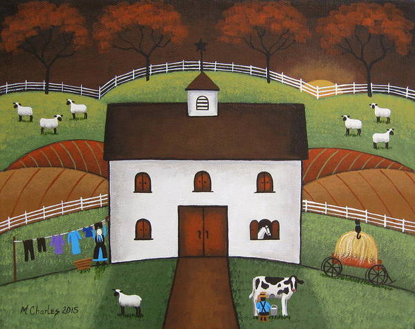 Amish Wall Art - Painting - Early Light by Mary Charles