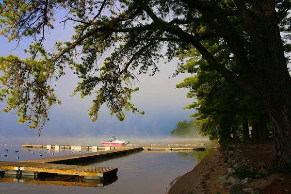 Photograph - Early Light On The H-dock by Polly Castor