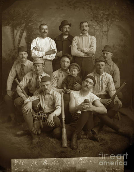 Photograph - Early Monterey Baseball Team Circa 1895 by California Views Archives Mr Pat Hathaway Archives