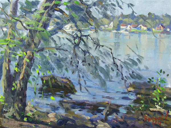 Wall Art - Painting - Early Morning At Fisherman's Park by Ylli Haruni