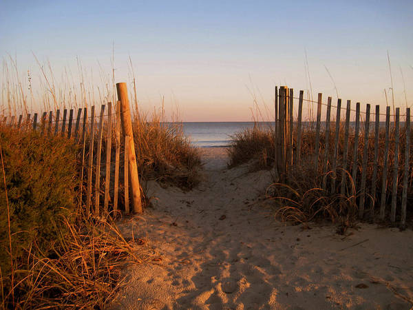 Myrtle Beach Wall Art - Photograph - Early Morning At Myrtle Beach Sc by Susanne Van Hulst
