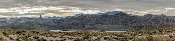 Photograph - Early Morning At Saguaro Lake Panorama by Teresa Wilson