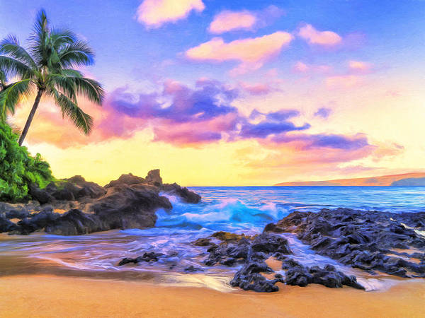 Painting - Early Morning At Secret Cove Maui by Dominic Piperata