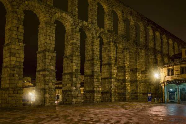 Photograph - Early Morning At The Aqueduct Of Segovia by Joan Carroll