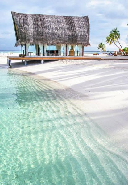 Photograph - Early Morning At The Maldivian Resort 1 by Jenny Rainbow