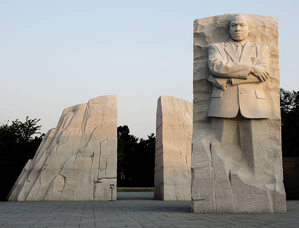 Luther Photograph - Early Morning At The Martin Luther King Jr Memorial - Washington Dc by Brendan Reals