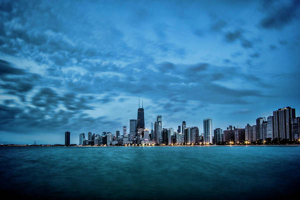 Photograph - Early Morning Blue Skies On Chicago's Lakefront by Sven Brogren
