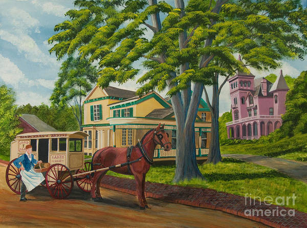 Upstate New York Painting - Early Morning Delivery by Charlotte Blanchard