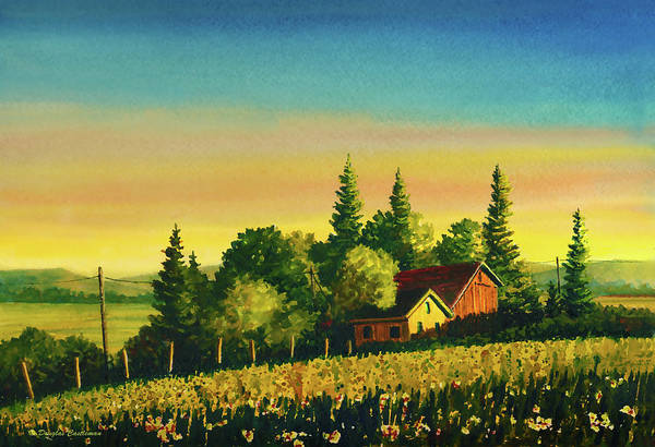 Painting - Early Morning Farmhouse by Douglas Castleman