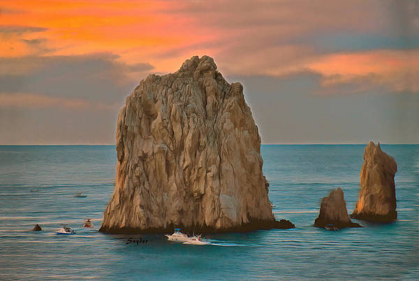 Photograph - Early Morning Fishing Boats Lands End Mexico by Floyd Snyder