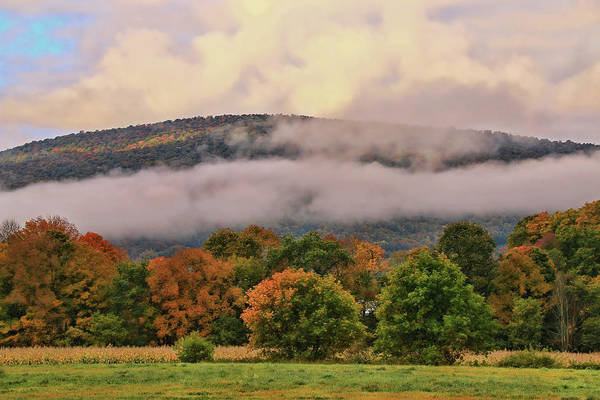 Waitsfield Photograph - Early Morning Fog by Allen Beatty