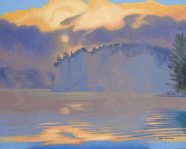 Wall Art - Painting - Early Morning Frood Lake by Paul Gauthier