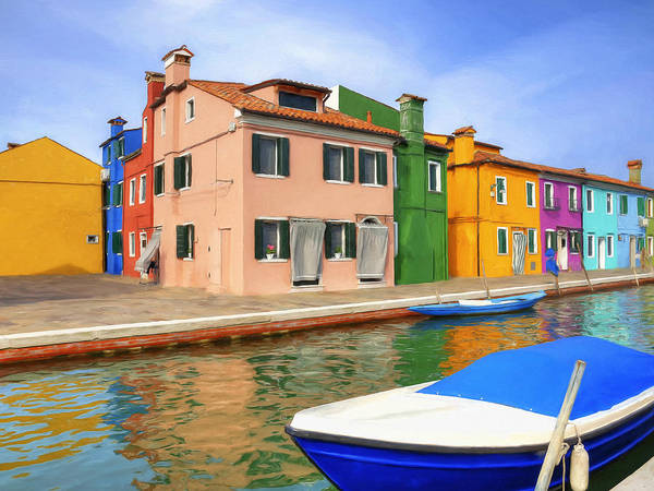 Lake Como Painting - Early Morning In Isola Di Burano by Dominic Piperata