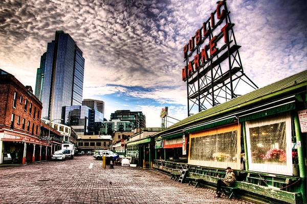 Pikes Place Wall Art - Photograph - Early Morning Market by Spencer McDonald