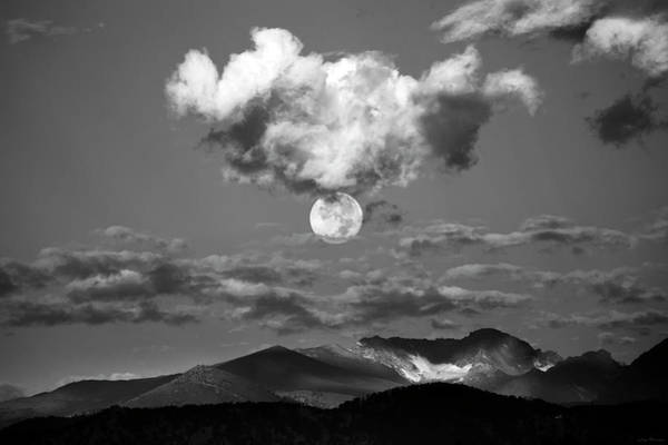 Photograph - Early Morning Moon II by Judi Dressler