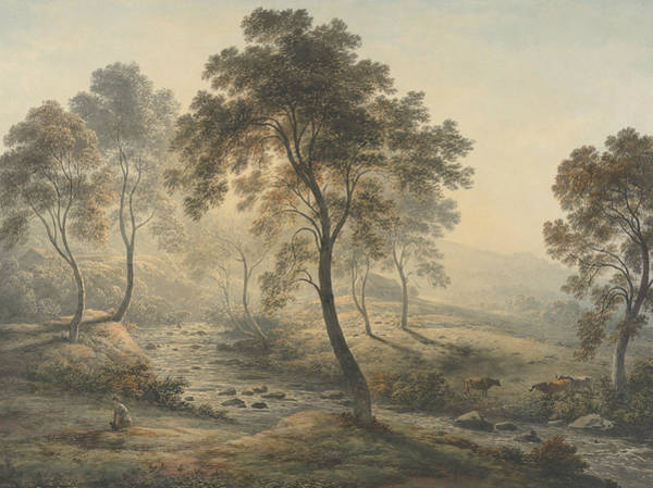 Drawing - Early Morning Near Loch Katrine In The Trossachs, Scotland by John Glover