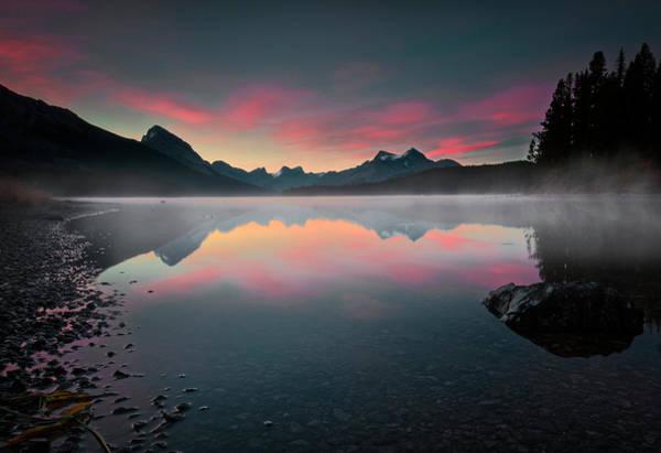 Photograph - Early Morning On Maligne Lake by Dan Jurak