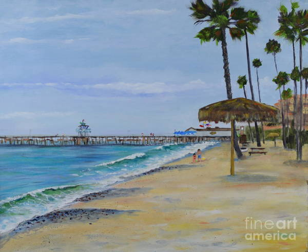 Painting - Early Morning On The Beach by Mary Scott