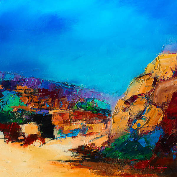 Painting - Early Morning Over The Canyon by Elise Palmigiani