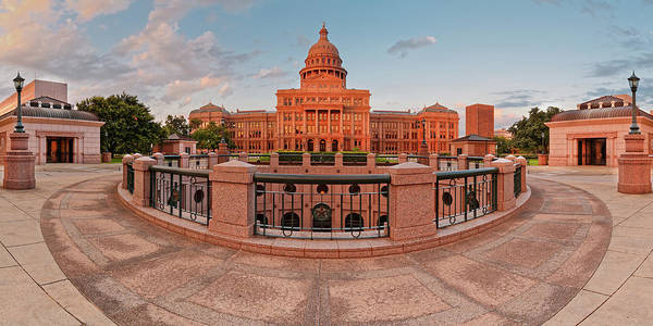 Wall Art - Photograph - Early Morning Panorama Of The Texas State Capitol In Downtown Austin - Texas Hill Country by Silvio Ligutti