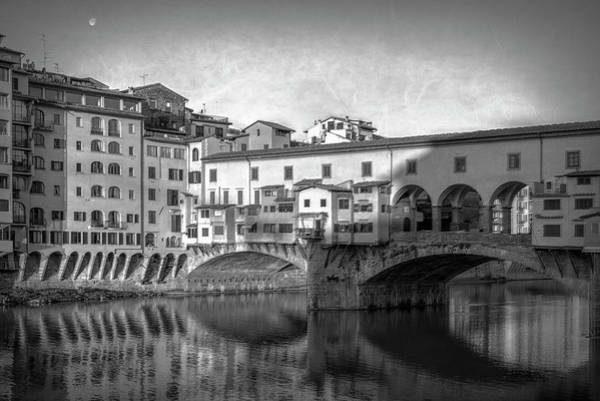 Photograph - Early Morning Ponte Vecchio Florence Italy by Joan Carroll