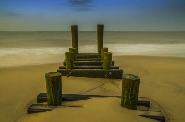 Jetti Wall Art - Photograph - Early Morning Seascape - Cape May by Bill Cannon