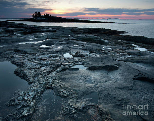 Photograph - Early Morning Sky And The New Harbor Shoreline  #8194-95 by John Bald