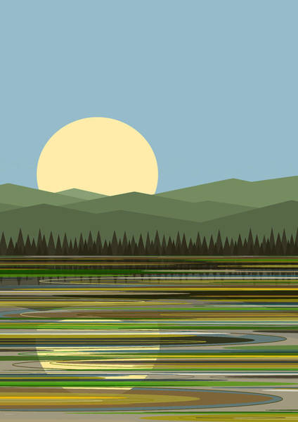 Digital Art - Early Morning Sunny Day by Val Arie