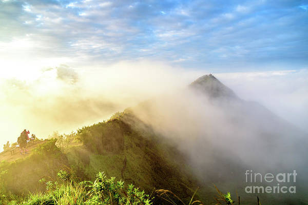 Photograph - Early Morning Sunrise Over The Caldera At Mount Batur Volcano In Bali by Global Light Photography - Nicole Leffer