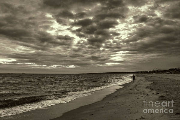 Photograph - Early Morning Walk On Virginia Beach by Jeff Breiman