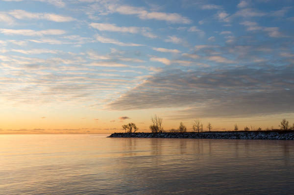 Promontory Point Photograph - Early Morning Zen - Meditating On The Waterfront At Sunrise by Georgia Mizuleva