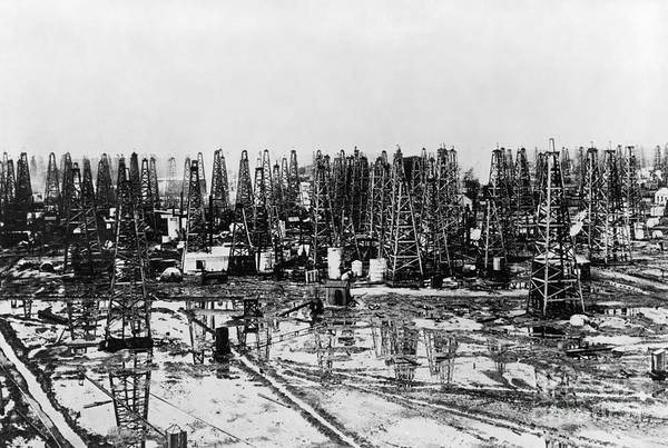 Petroleum Wall Art - Photograph - Early Oil Field by Granger