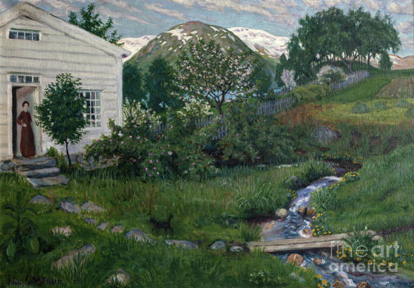 Nikolai Astrup Painting - Early Part Of The Summer by O Vaering