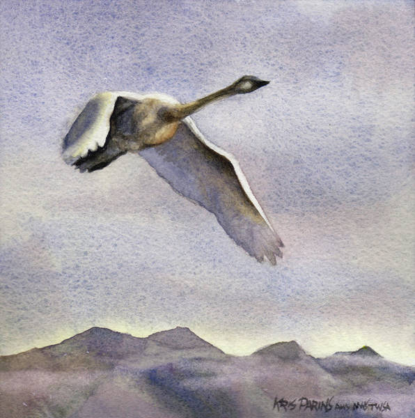 Birder Painting - Early Riser by Kris Parins