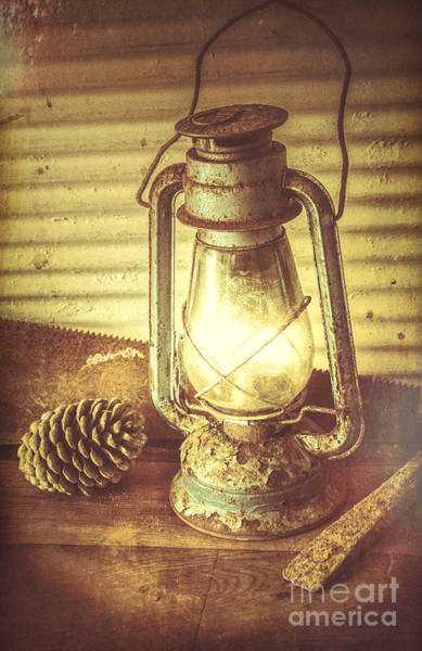 Oil Lamp Photograph - Early Settler Oil Lamp by Jorgo Photography - Wall Art Gallery