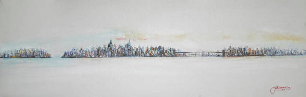 Painting - Early Skyline by Jack Diamond