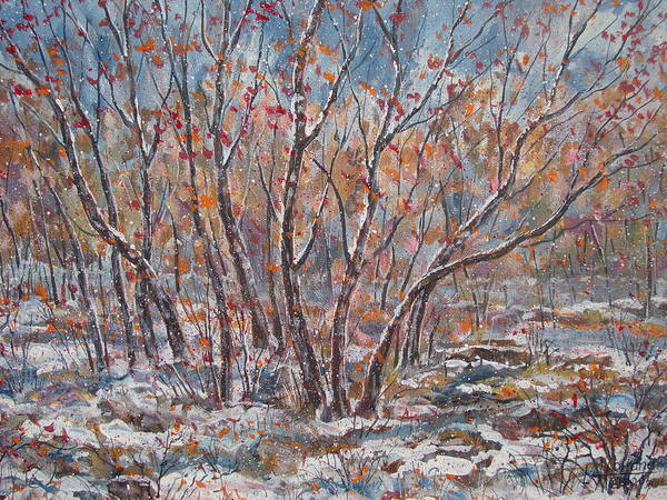 Wall Art - Painting - Early Snow. by Leonard Holland