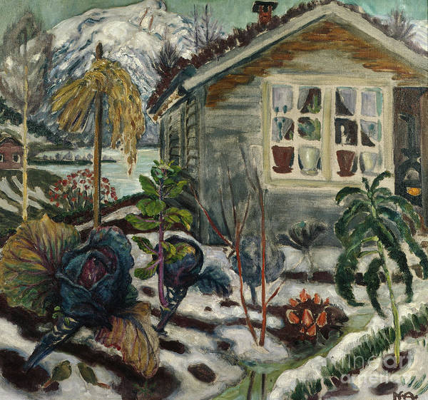 Nikolai Astrup Painting - Early Snow by O Vaering