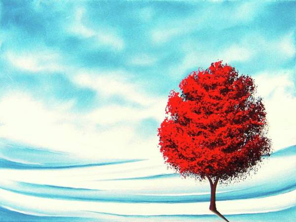 First Snowfall Wall Art - Painting - Early Snow by Rachel Bingaman