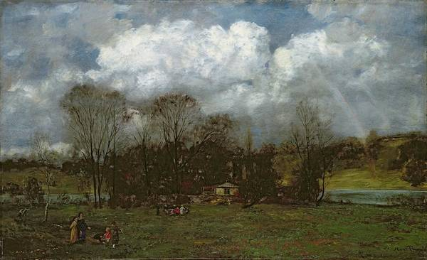 Ring Painting - Early Spring by Hans Thoma