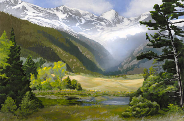 Painting - Early Spring In The Mountains by Lynn Hansen