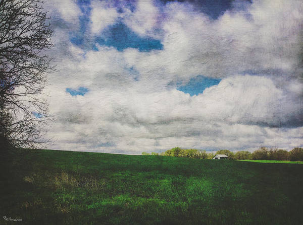 Photograph - Early Spring Kansas Countryside With Barn by Anna Louise